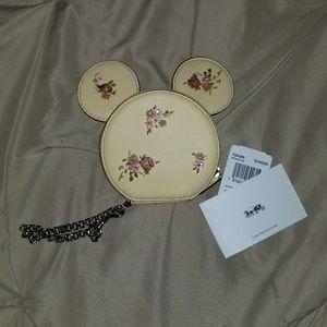 Minnie Mouse Coach Coin Case Wallet